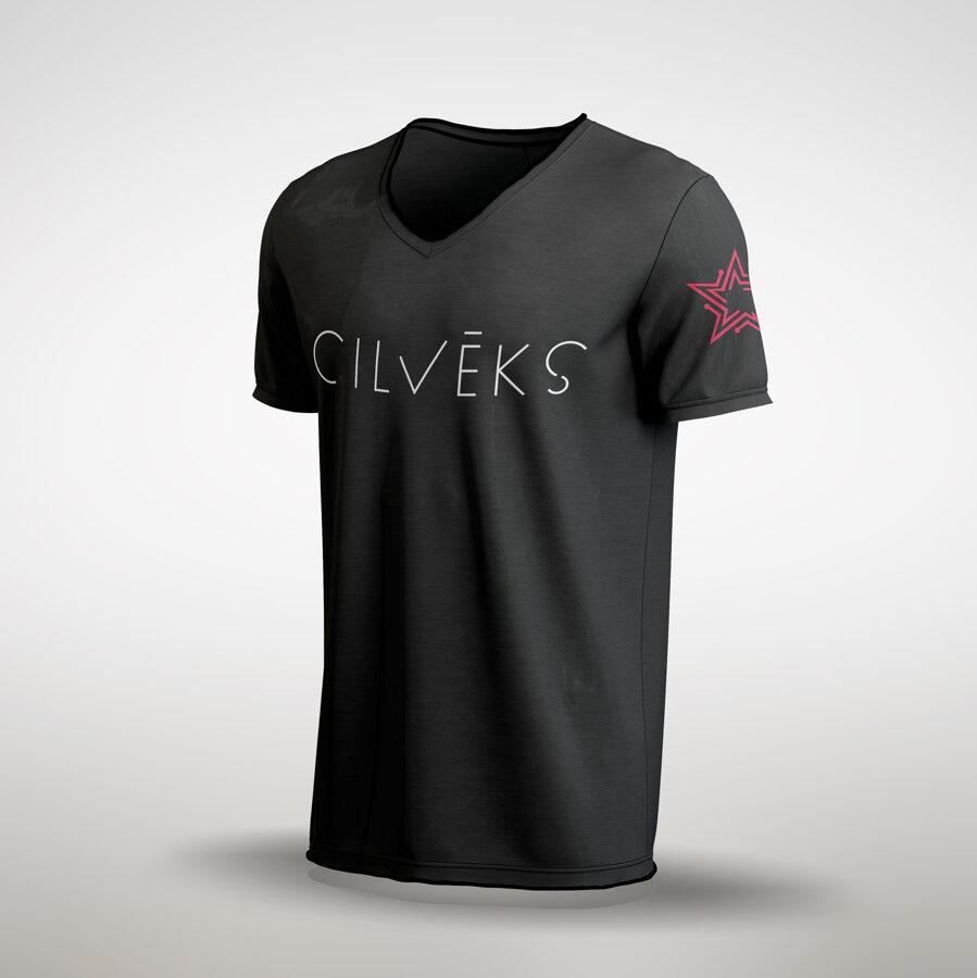 T-krekls ''Cilvēks'' ar V-veida izgriezumu